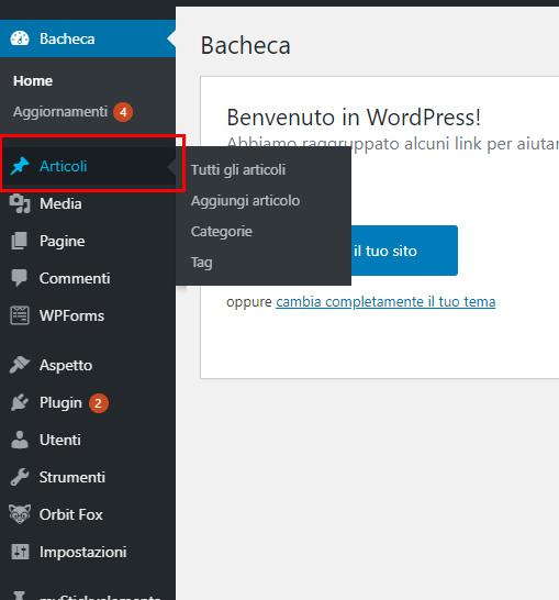 Tutorial: creare un articolo WordPress